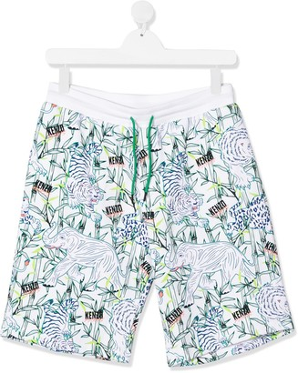 Kenzo Kids TEEN tiger print shorts
