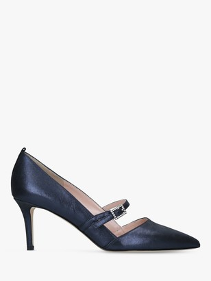 Sarah Jessica Parker Nirvana 70 Leather Court Shoes, Navy