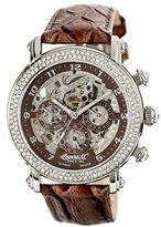Ingersoll Women's IN7202BR Dream Fine Automatic Timepiece Brown Strap Watch