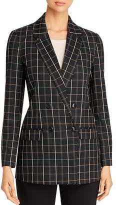 Vero Moda Check-Print Double-Breasted Blazer