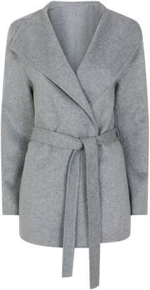 Joseph Lima Short Wool-Cashmere Belted Coat