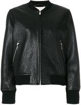 Etoile Isabel Marant Kanna bomber jacket - women - Lamb Skin/Polyester/Acetate/Cupro - 36