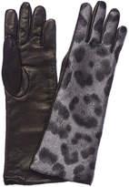 Moncler Leather-Trim Gloves