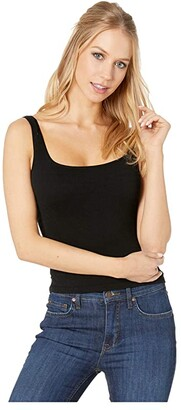 Free People Square One Seamless Cami (Black) Women's Sleeveless