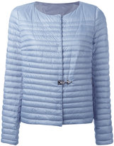 Fay collarless puffer jacket - women - Feather Down/Polyamide/Polyester - L