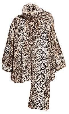 Alexander Wang Women's Cheetah-Print Faux Fur Coat