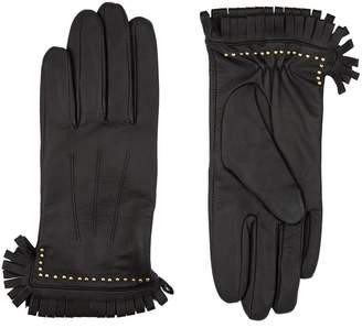Sandro Fringed Leather Gloves