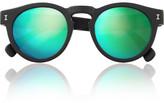 Illesteva Leonard mirrored round-frame acetate sunglasses