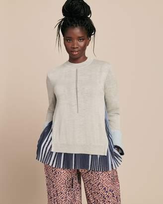 Yigal Azrouel Woven Combo Silk Cashmere Sweater