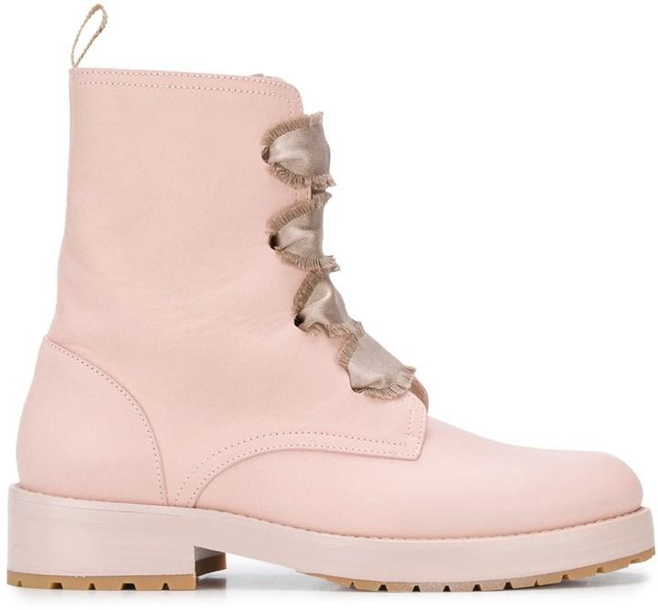 valentino pink boots