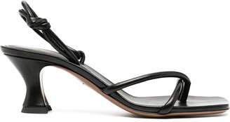 Neous Crossover-Straps Mid-Heel Sandals