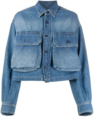 R 13 Front Pockets Denim Jacket