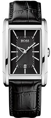 HUGO BOSS Watch, Men's Black Leather Strap 1512619
