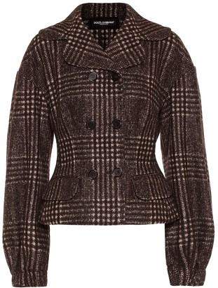 Dolce & Gabbana Checked wool-blend jacket