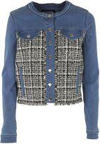 Karl Lagerfeld Frayed Denim Jacket