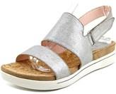 Taryn Rose Chaz Women Open-toe Synthetic Silver Slingback Sandal.