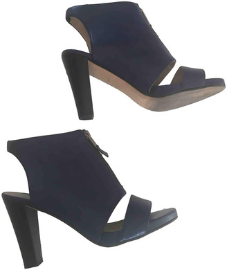 Opening Ceremony Blue Leather Ankle boots