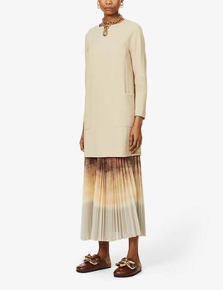 Max Mara Maratea scoop-neck stretch-wool mini dress