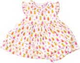 Kissy Kissy Pineapples Flutter Sleeve Dress