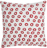 """Pine Cone Hill Thumbprint Embroidered Pillow, 20""""Sq."""