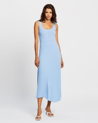 Mossman - Women's Blue Midi Dresses - The Before Dawn Dress - Size 14 at The Iconic
