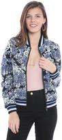Blank Reversible Floral & Vegan Leather Bomber Jacket