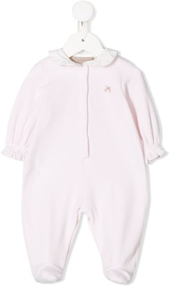 La Stupenderia Embroidered Ruffled Pajamas