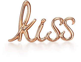 Tiffany & Co. Paloma's Graffiti kiss single earring in 18ct rose gold