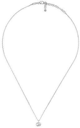 Gucci Running GG 18K White Gold Pendant Necklace