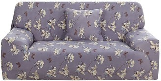 Overstock Sofa Cover 1 Piece Polyester Spandex Fabric Stretch Slipcover