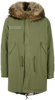 Mr & Mrs Italy - lined parka coat - men - Cotton/Leather/Polyamide/Feather - XS