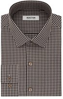 Kenneth Cole Reaction Men's Slim Fit Gingham Spread Collar Dress Shirt