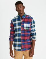 American Eagle Outfitters AE Patchwork Oxford Shirt