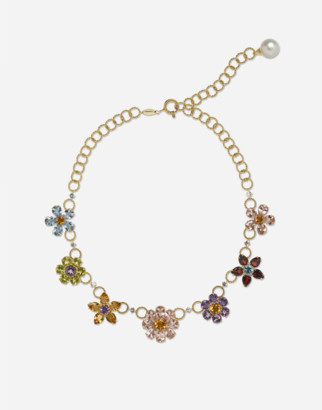 Dolce & Gabbana Necklace With Floral Decorative Elements