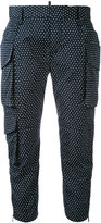 DSQUARED2 spotted cropped trousers - women - Polyester - 38