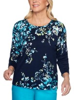 Alfred Dunner Easy Street Floral-Print Cotton Top
