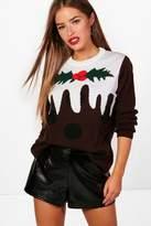 boohoo Petite Olivia Christmas Pudding Jumper