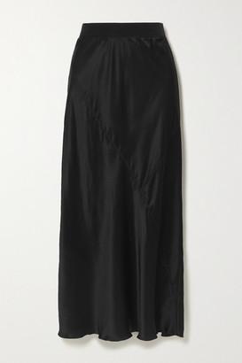 ATM Anthony Thomas Melillo Paneled Silk-satin Midi Skirt - Black