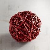 Pier 1 Imports Mini Red Rattan Decorative Sphere
