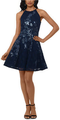 Xscape Evenings Sequined Lace Fit & Flare Dress