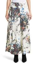 ADAM by Adam Lippes Women's Floral Print Cotton Poplin Tie Waist Pants