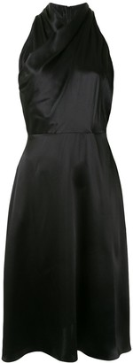 Adam Lippes Draped-Neck Silk Dress
