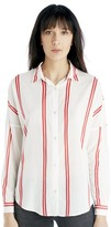 Sole Society Loose Fit Stripe Shirt