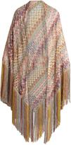 Missoni Multicoloured crochet-knit wrap