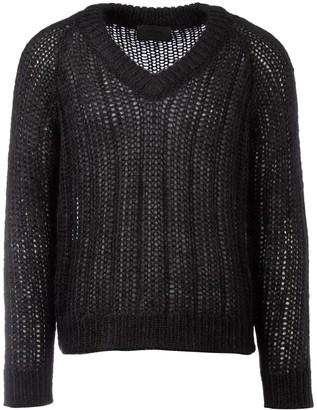 Prada Knitted V-Neck Sweater