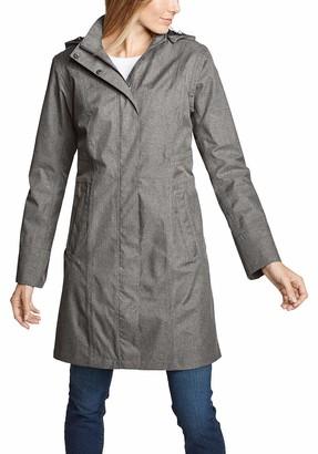 Eddie Bauer Women's Girl On The Go Trenchcoat - Wasserdichte Winddichte Atmungsaktive Regenjacke Mit Brusttasche Innen Raincoat