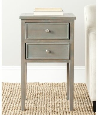 August Grove Joanna 2 Drawer End Table Color: French Grey