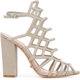 Schutz block heel caged sandals
