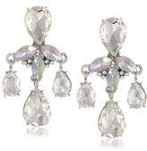 """Roman Bride Simulated Crystal Teardrop Door Knocker Earrings, 1.78"""""""