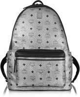 MCM Silver Stark Medium Backpack
